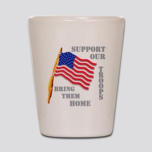 Support Our Troops Bring Them Shot Glass