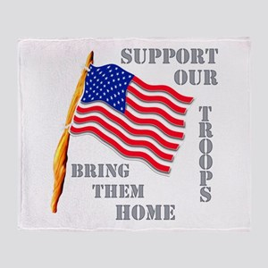Support Our Troops Bring Them Throw Blanket