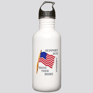 Support Our Troops Bring Them Stainless Water Bott