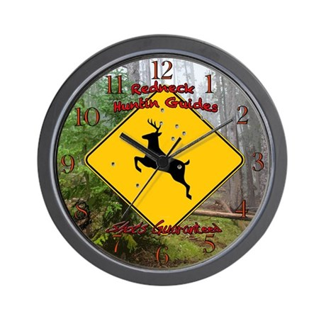 Redneck hunting guides Wall Clock