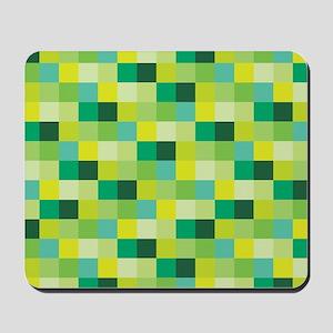 Green Pixelated Pattern | Gamer Mousepad