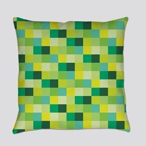 Green Pixelated Pattern | Gamer Everyday Pillow