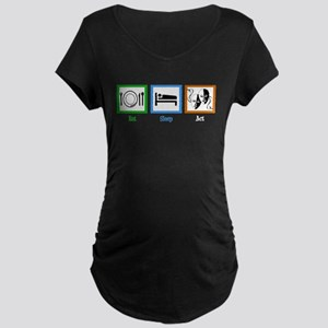 Eat Sleep Act Maternity Dark T-Shirt