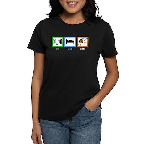 Eat Sleep Knit Women's Dark T-Shirt