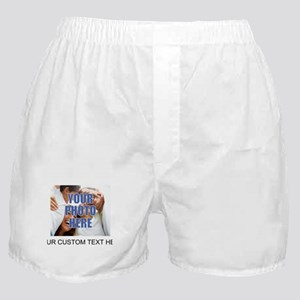 Custom Photo and Text Boxer Shorts