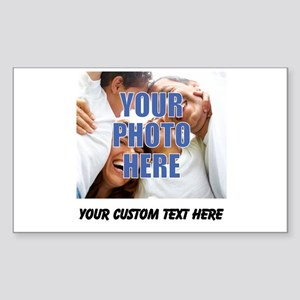 Custom Photo and Text Sticker (Rectangle)