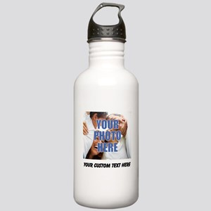 Custom Photo and Text Stainless Water Bottle 1.0L