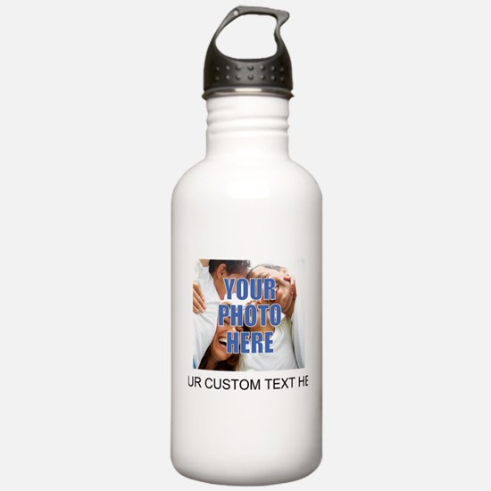 Custom Photo and Text Sports Water Bottle