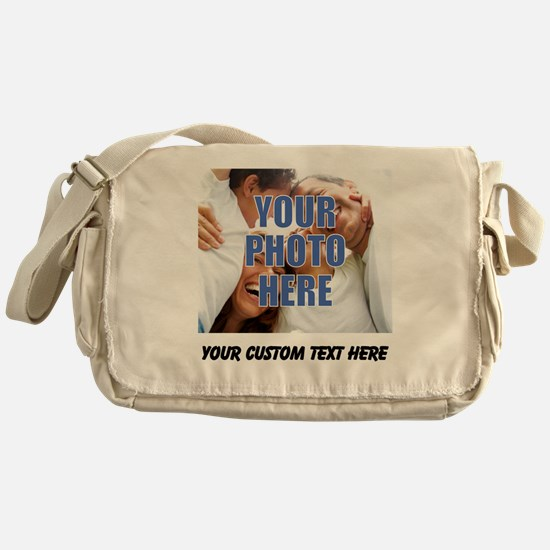 Custom Photo and Text Messenger Bag