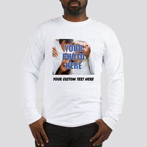 Custom Photo and Text Long Sleeve T-Shirt