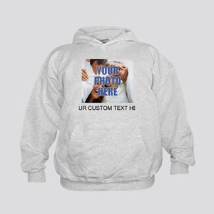 Custom Photo and Text Kids Hoodie