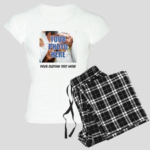 Custom Photo and Text Women's Light Pajamas