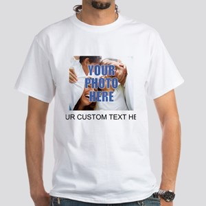 Custom Photo and Text White T-Shirt