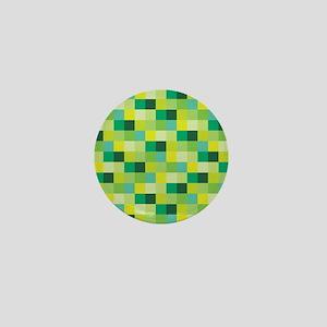 Green Pixelated Pattern | Gamer Mini Button