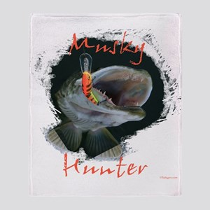 Musky hunter,3 Throw Blanket