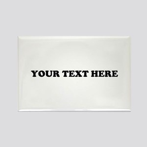 Custom Text Rectangle Magnet