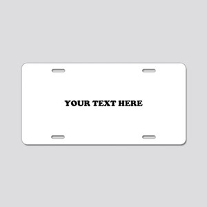 Custom Text Aluminum License Plate
