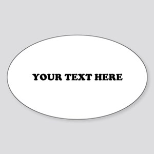 Custom Text Sticker (Oval)