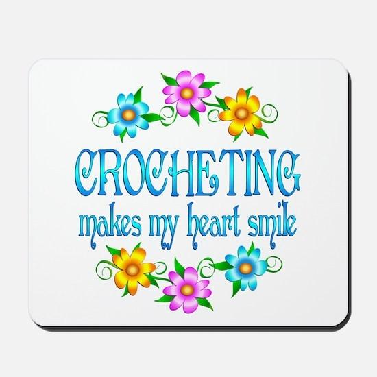 Crocheting Smiles Mousepad