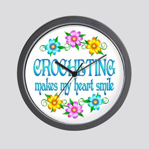 Crocheting Smiles Wall Clock