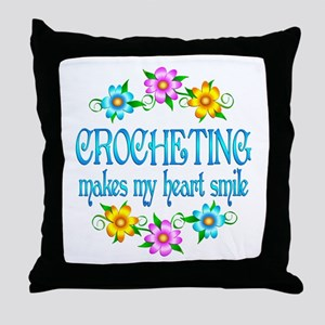 Crocheting Smiles Throw Pillow