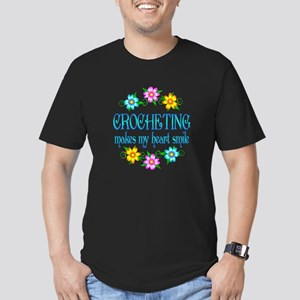 Crocheting Smiles Men's Fitted T-Shirt (dark)