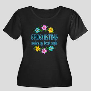 Crocheting Smiles Women's Plus Size Scoop Neck Dar
