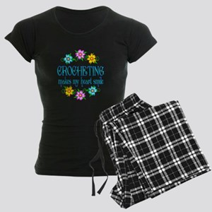 Crocheting Smiles Women's Dark Pajamas