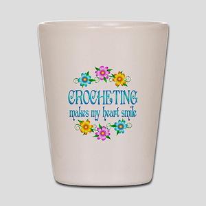 Crocheting Smiles Shot Glass