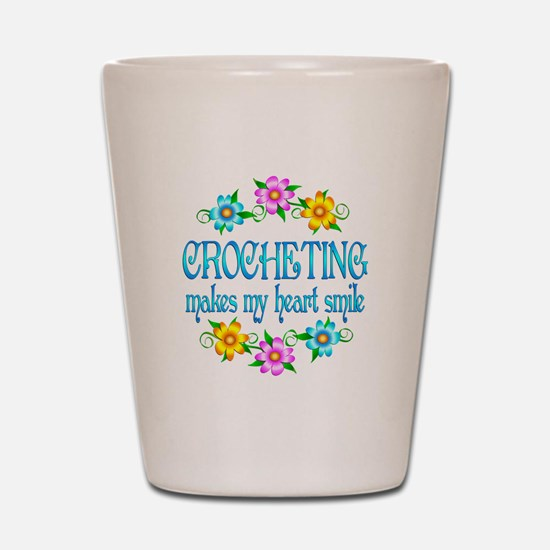 Crocheting Smiles Shot Glass