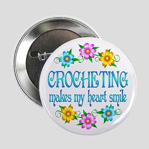 "Crocheting Smiles 2.25"" Button"
