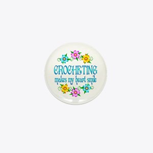 Crocheting Smiles Mini Button