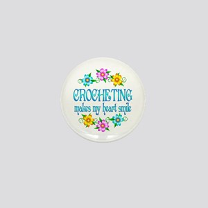 Crocheting Smiles Mini Button