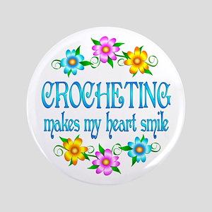 "Crocheting Smiles 3.5"" Button"