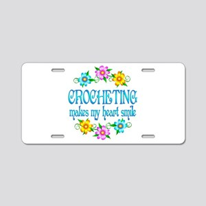 Crocheting Smiles Aluminum License Plate
