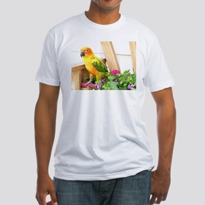 Sun Conure Fitted T-Shirt