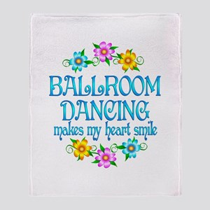 Ballroom Smiles Throw Blanket