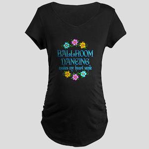 Ballroom Smiles Maternity Dark T-Shirt
