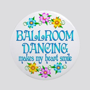 Ballroom Smiles Ornament (Round)