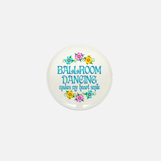 Ballroom Smiles Mini Button