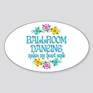 Ballroom Smiles Sticker (Oval)
