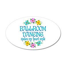 Ballroom Smiles 22x14 Oval Wall Peel