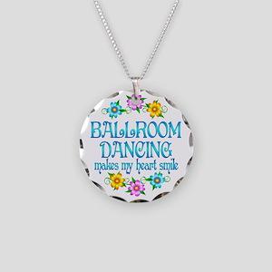 Ballroom Smiles Necklace Circle Charm