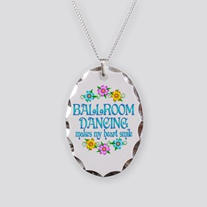 Ballroom Smiles Necklace Oval Charm