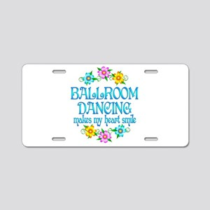 Ballroom Smiles Aluminum License Plate