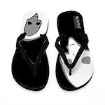Punk Skull (Special, Wht/Gray on Black) Flip Flops