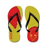Punk Skull (Special, Red on Yellow) Flip Flops