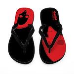 Punk Skull (Special, Red on Black) Flip Flops