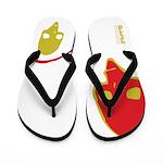 Punk Skull (Pop, Yellow & Red) Flip Flops