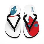 Punk Skull (Pop, Blue & Red) Flip Flops